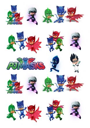 PJ Masks Stand Up Cupcake Toppers
